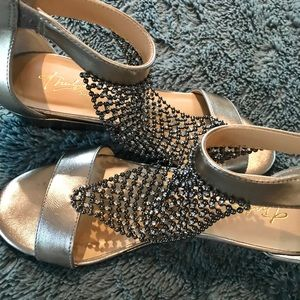 Amazing silver gladiator type sandal.
